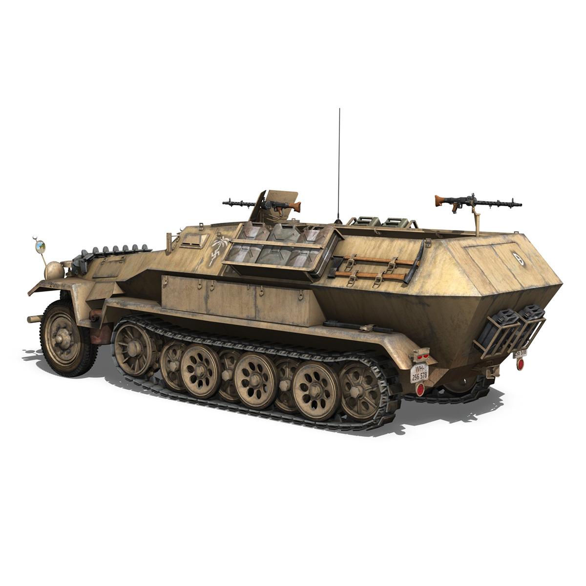 sd.kfz 251/1 ausf.b – dak – 21pd 3d model 3ds fbx c4d lwo obj 275059