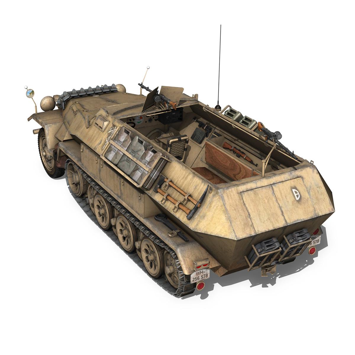 sd.kfz 251/1 ausf.b – dak – 21pd 3d model 3ds fbx c4d lwo obj 275060
