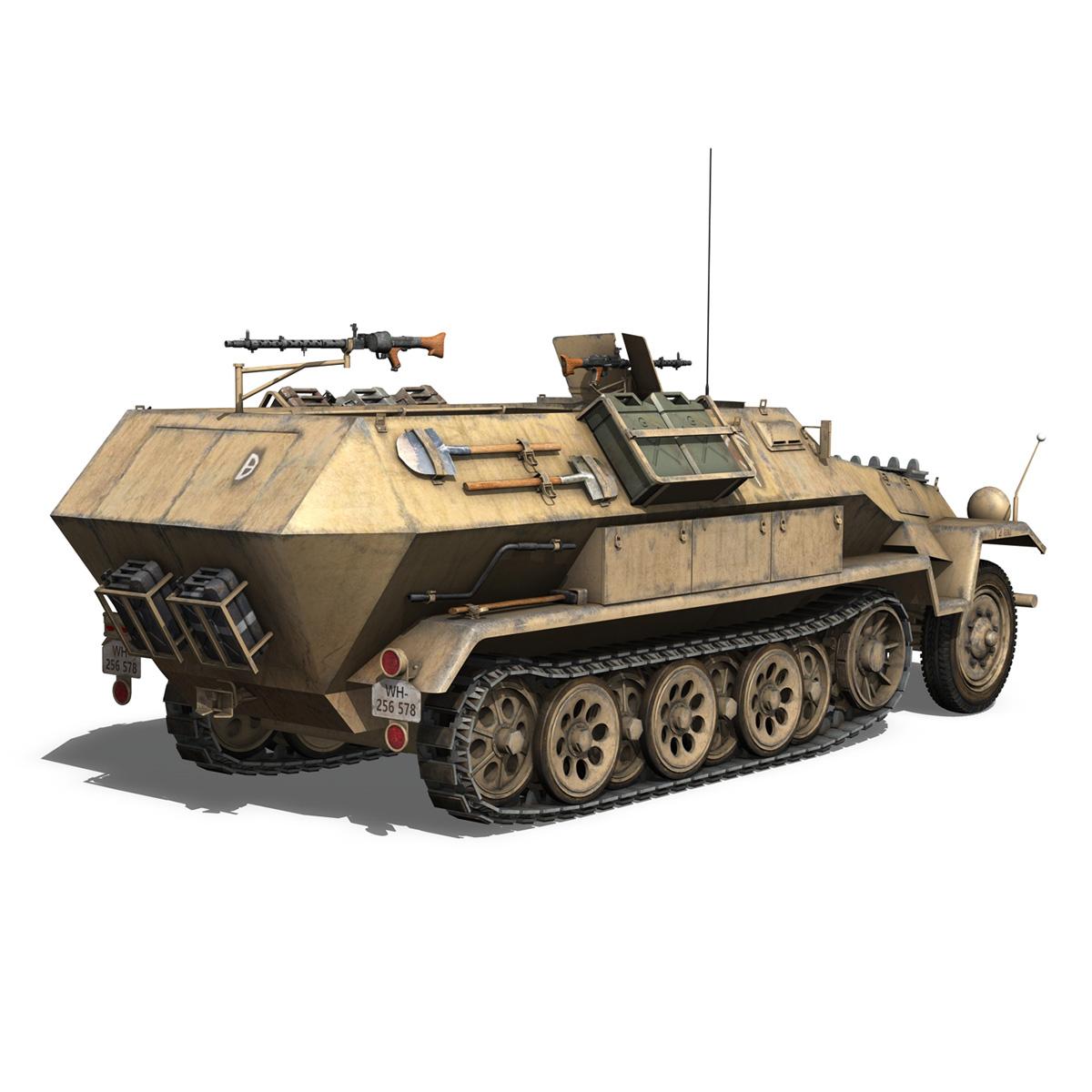 sd.kfz 251/1 ausf.b – dak – 21pd 3d model 3ds fbx c4d lwo obj 275061