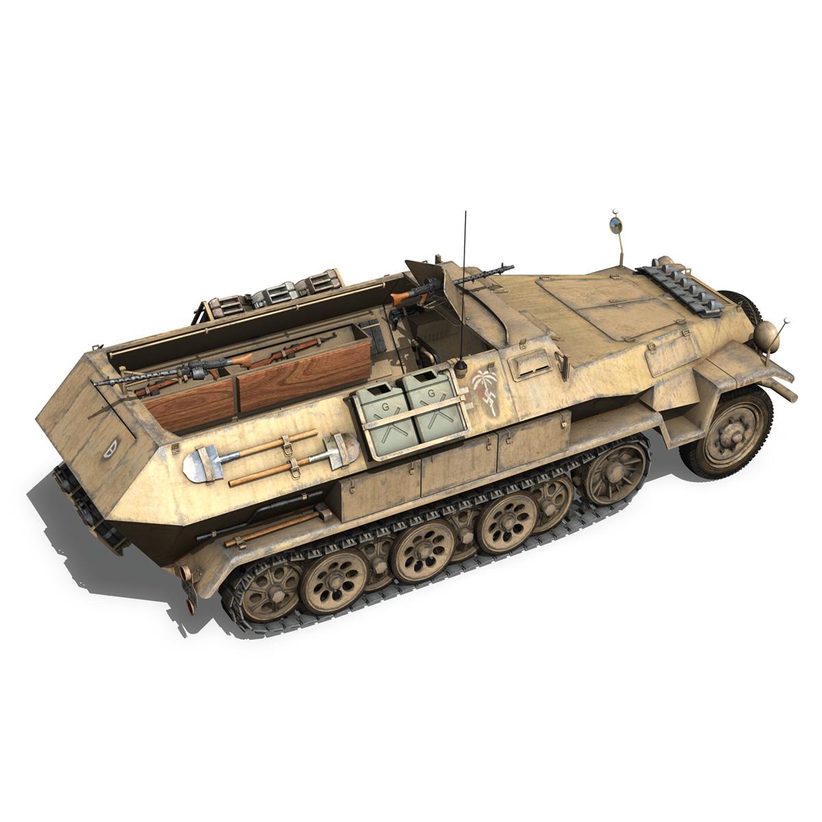sd.kfz 251/1 ausf.b – dak – 21pd 3d model 3ds fbx c4d lwo obj 275062