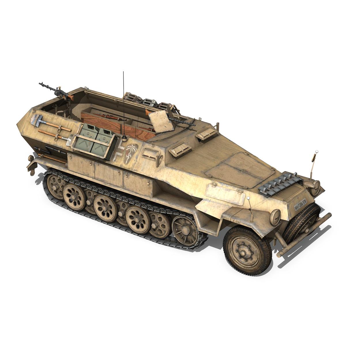 sd.kfz 251/1 ausf.b – dak – 21pd 3d model 3ds fbx c4d lwo obj 275063