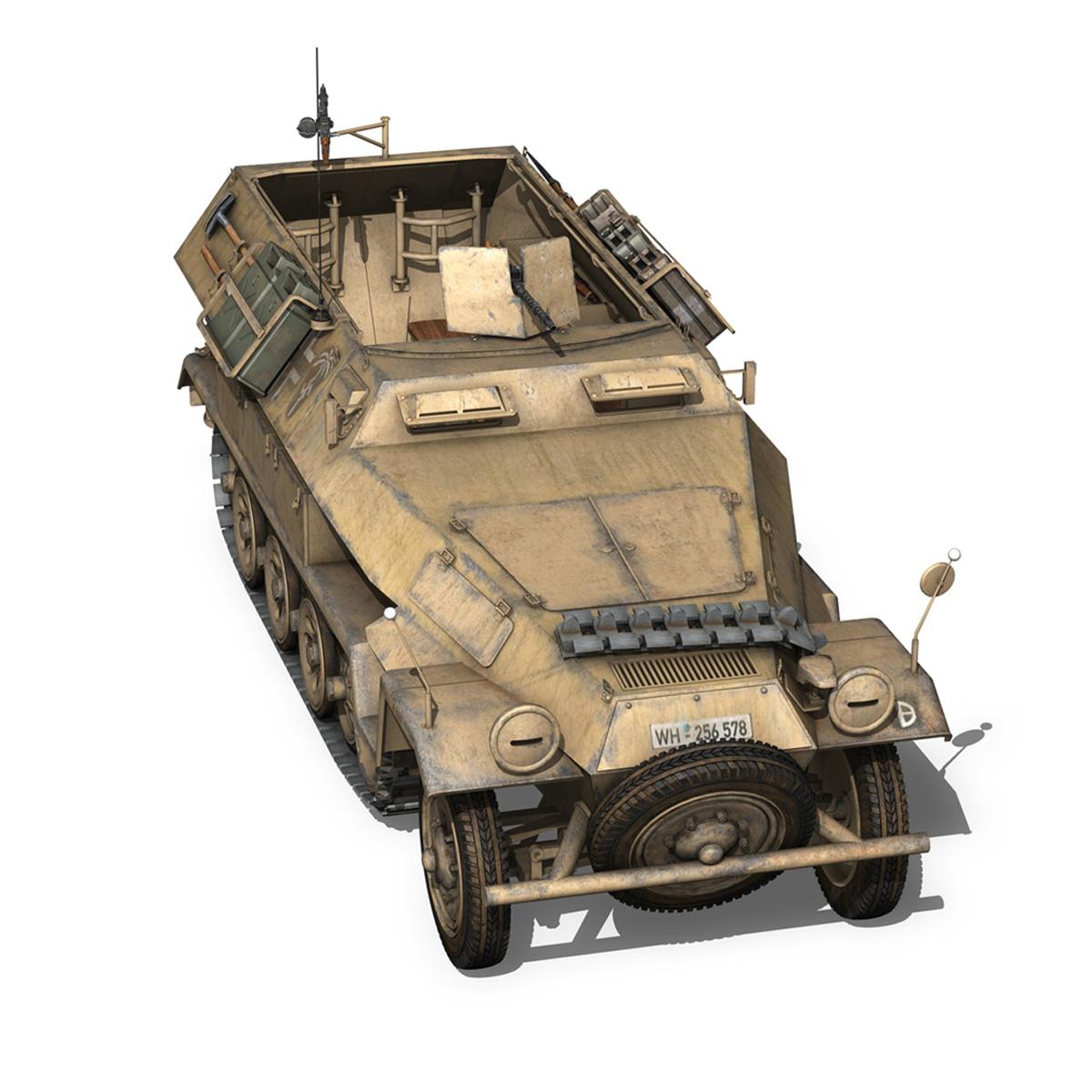 sd.kfz 251/1 ausf.b – dak – 21pd 3d model 3ds fbx c4d lwo obj 275064