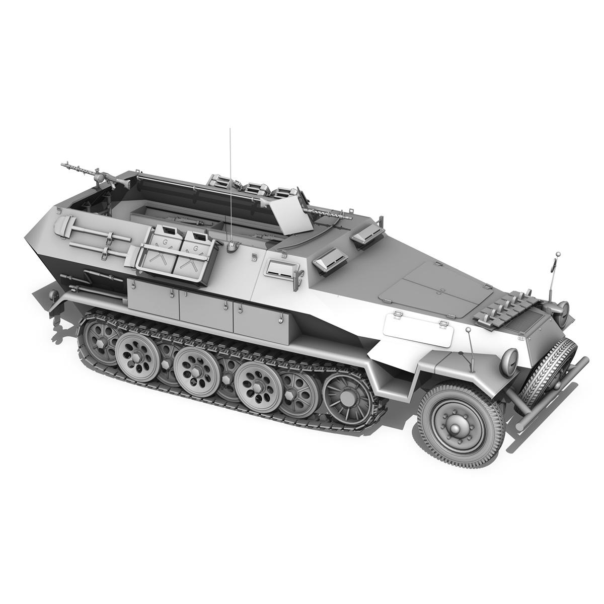 sd.kfz 251/1 ausf.b – dak – 21pd 3d model 3ds fbx c4d lwo obj 275067