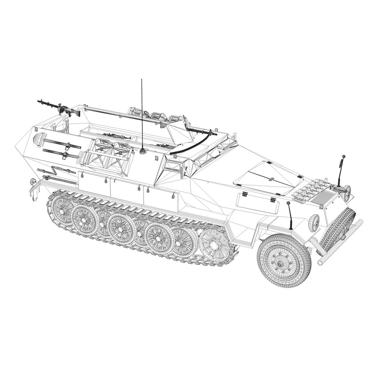 sd.kfz 251/1 ausf.b – dak – 21pd 3d model 3ds fbx c4d lwo obj 275068