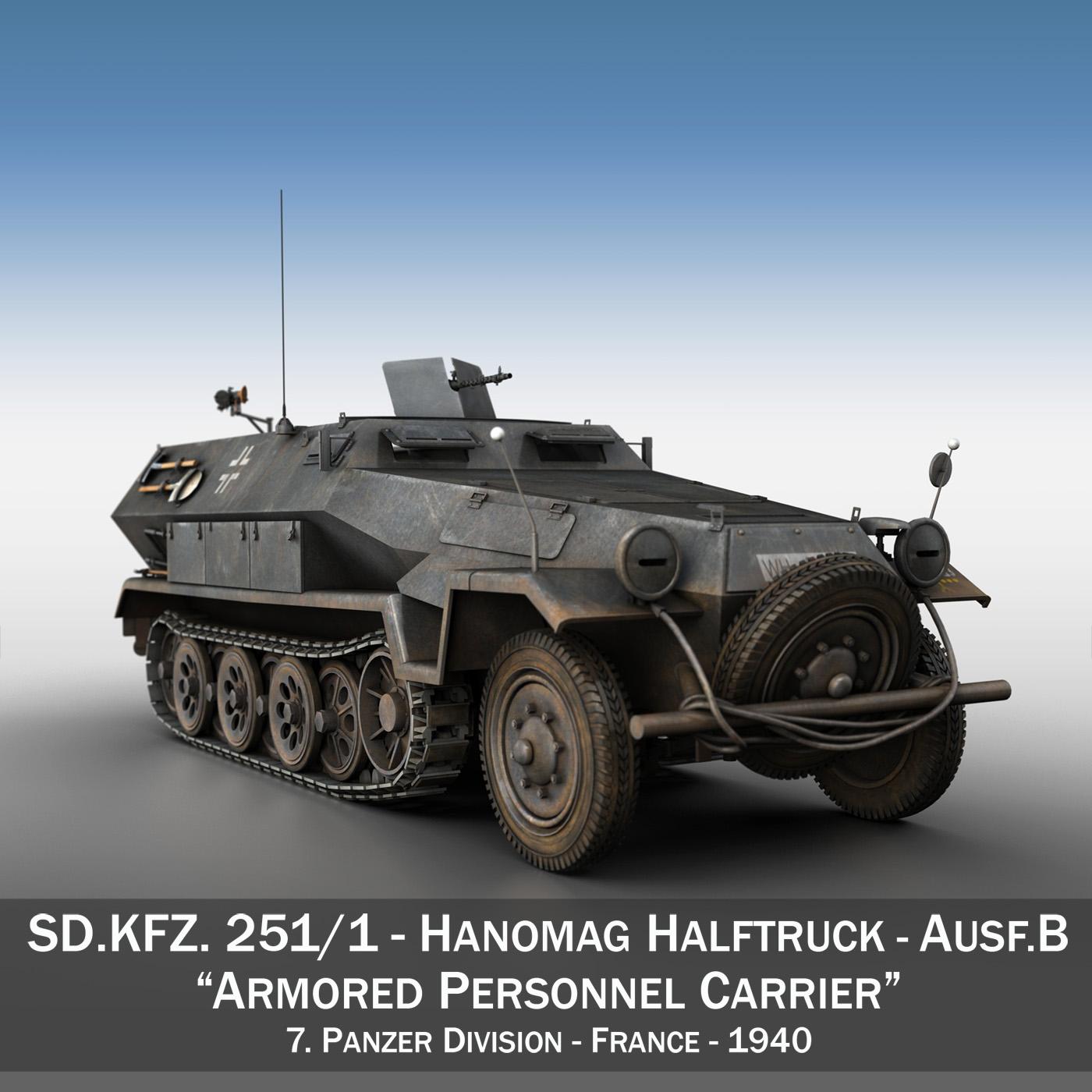 sd.kfz 251/1 ausf.b – halftruck – 7pd 3d model 3ds fbx c4d lwo obj 275076