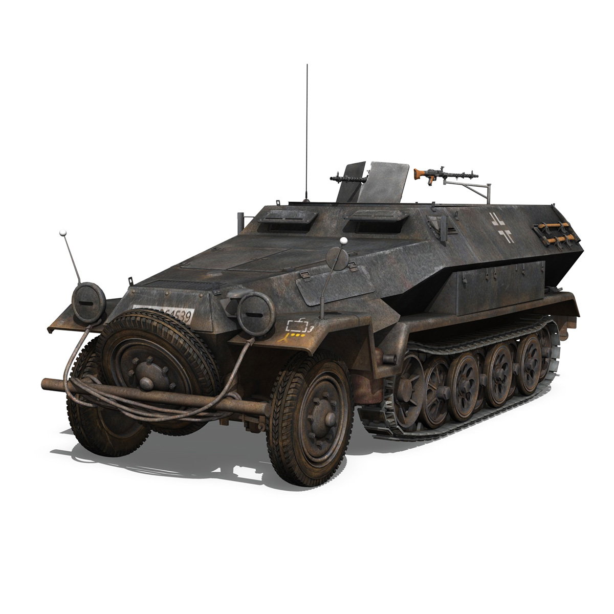 sd.kfz 251/1 ausf.b – halftruck – 7pd 3d model 3ds fbx c4d lwo obj 275077