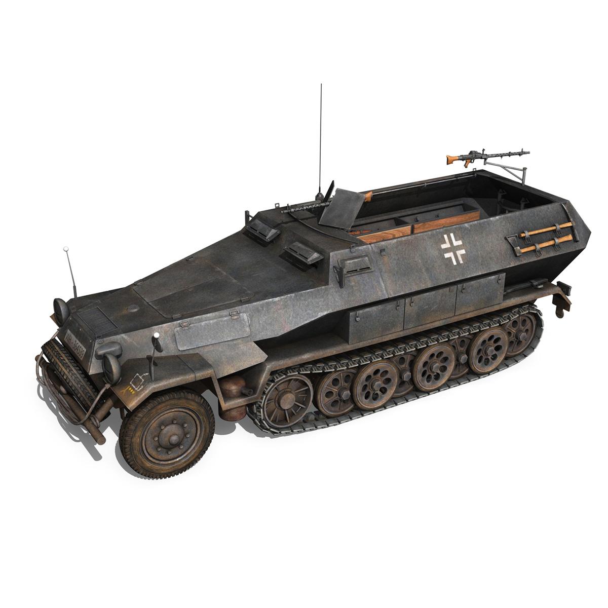 sd.kfz 251/1 ausf.b – halftruck – 7pd 3d model 3ds fbx c4d lwo obj 275078