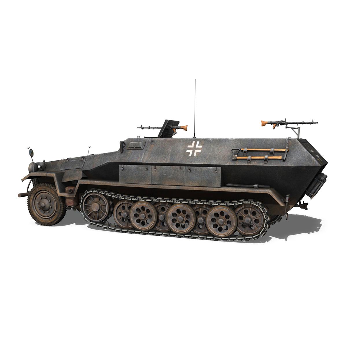 sd.kfz 251/1 ausf.b – halftruck – 7pd 3d model 3ds fbx c4d lwo obj 275079
