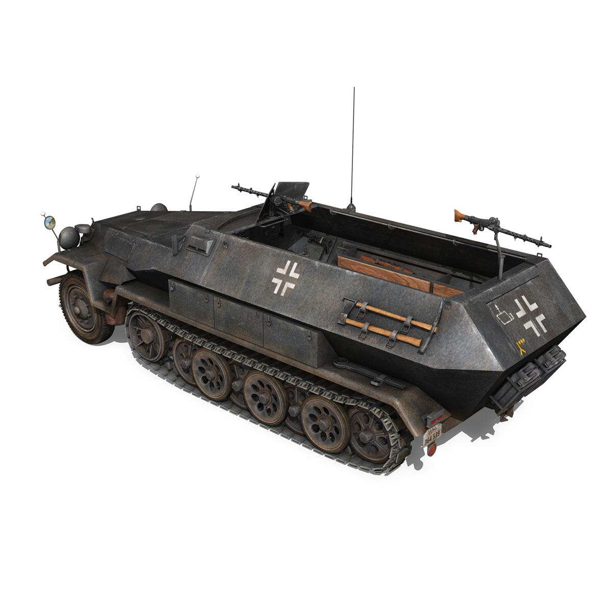 sd.kfz 251/1 ausf.b – halftruck – 7pd 3d model 3ds fbx c4d lwo obj 275080