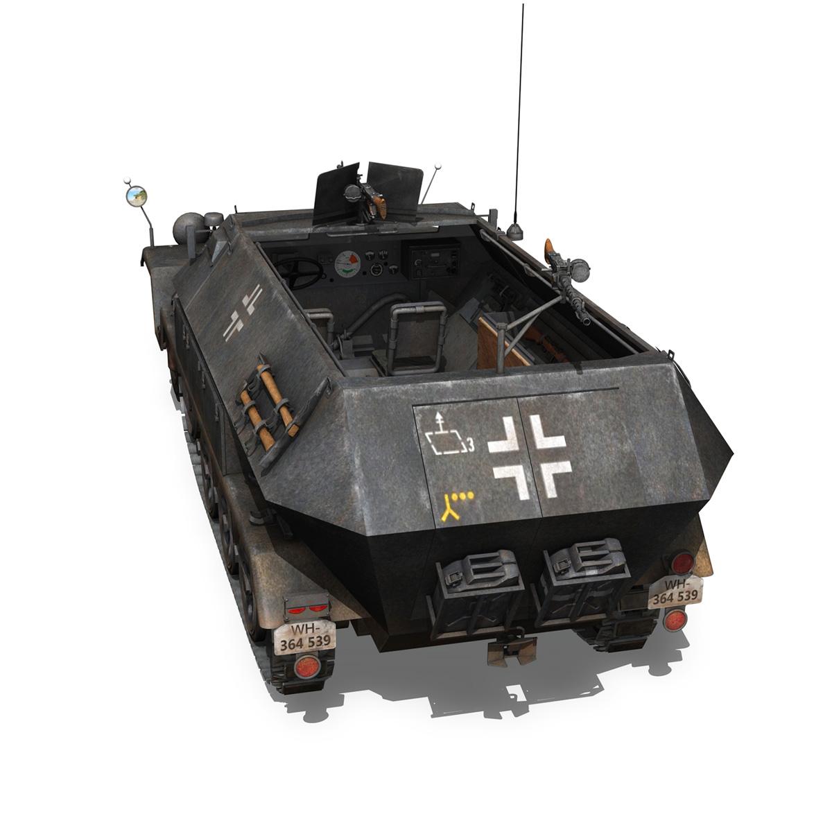 sd.kfz 251/1 ausf.b – halftruck – 7pd 3d model 3ds fbx c4d lwo obj 275081