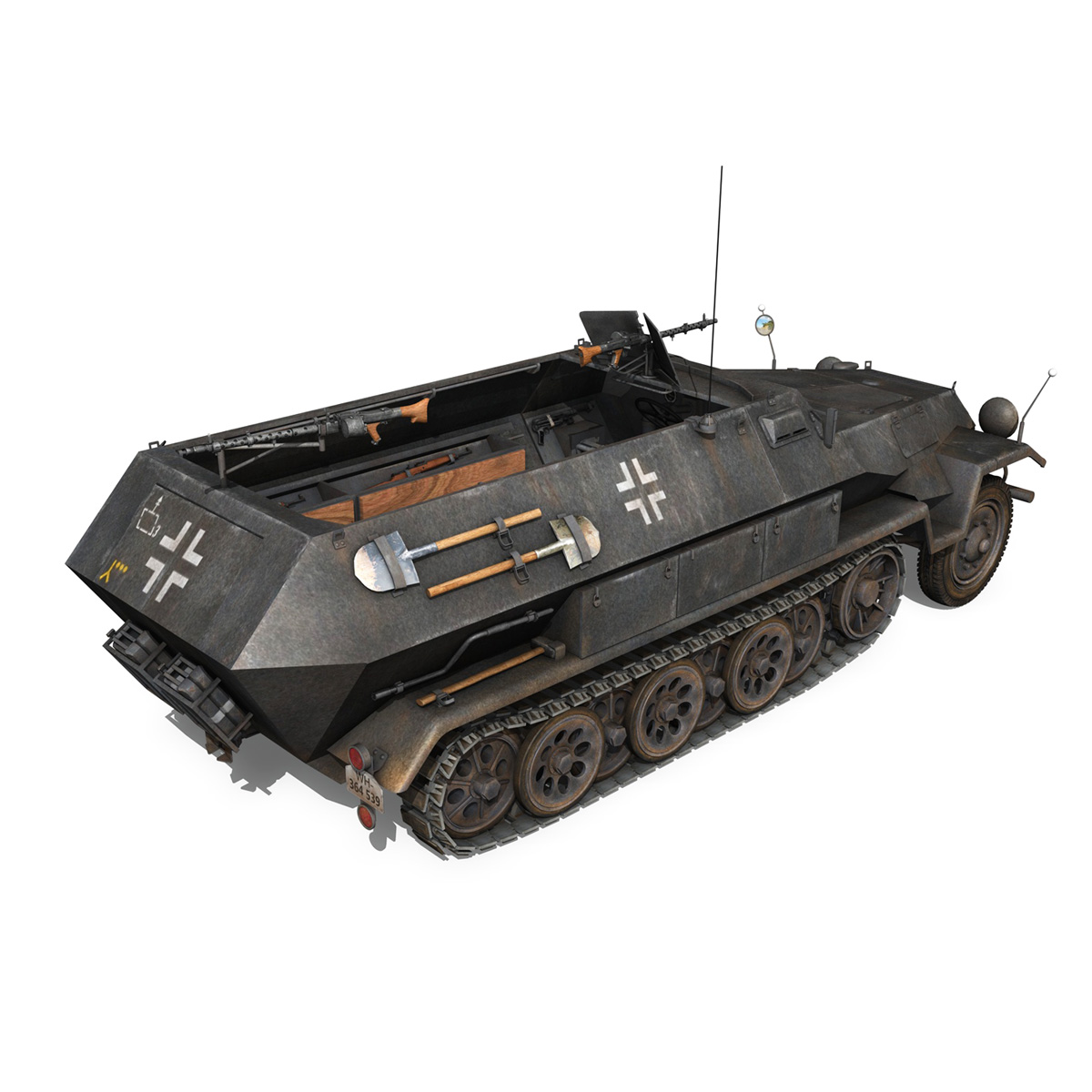 sd.kfz 251/1 ausf.b – halftruck – 7pd 3d model 3ds fbx c4d lwo obj 275082