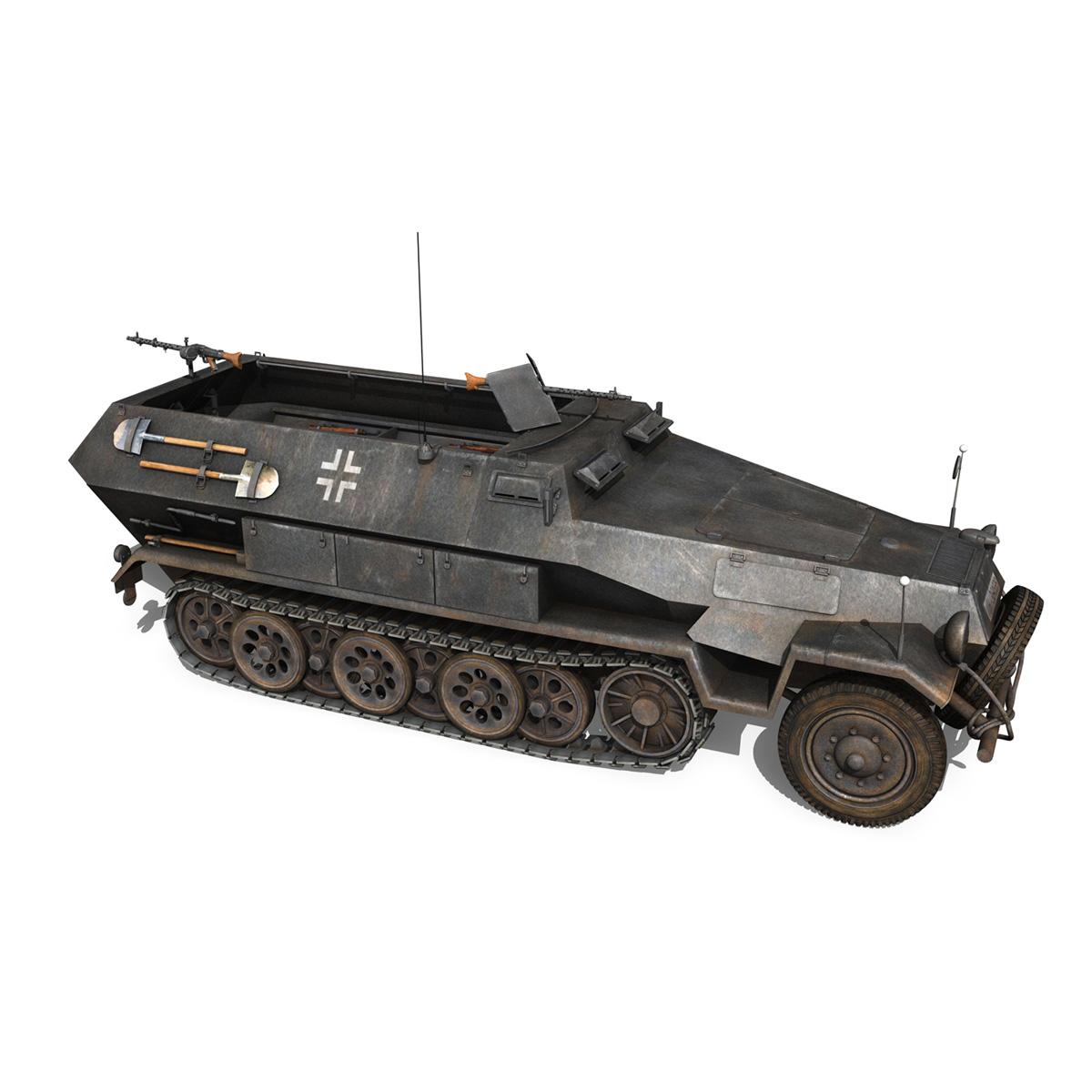 sd.kfz 251/1 ausf.b – halftruck – 7pd 3d model 3ds fbx c4d lwo obj 275083