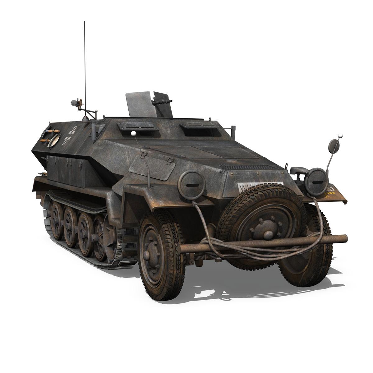sd.kfz 251/1 ausf.b – halftruck – 7pd 3d model 3ds fbx c4d lwo obj 275085