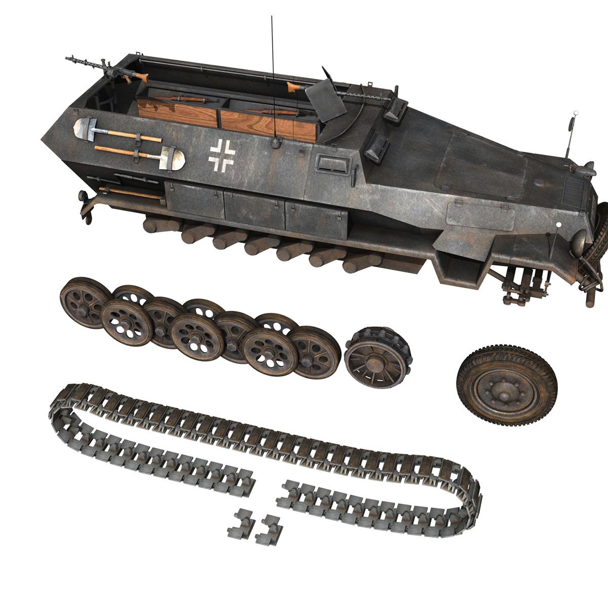 sd.kfz 251/1 ausf.b – halftruck – 7pd 3d model 3ds fbx c4d lwo obj 275086