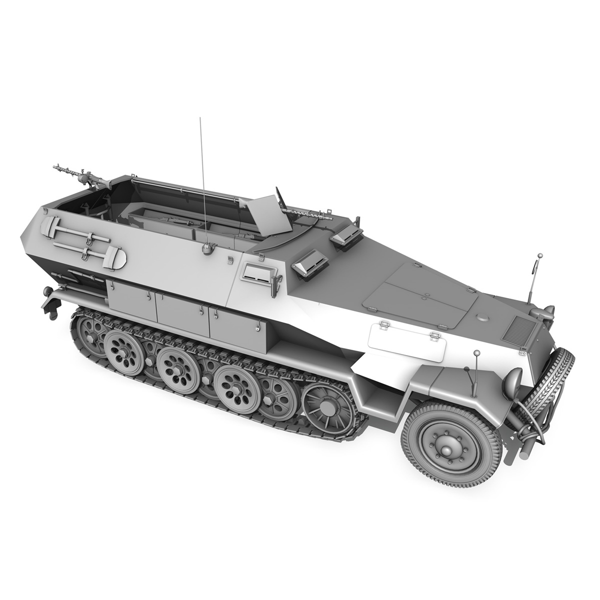 sd.kfz 251/1 ausf.b – halftruck – 7pd 3d model 3ds fbx c4d lwo obj 275087