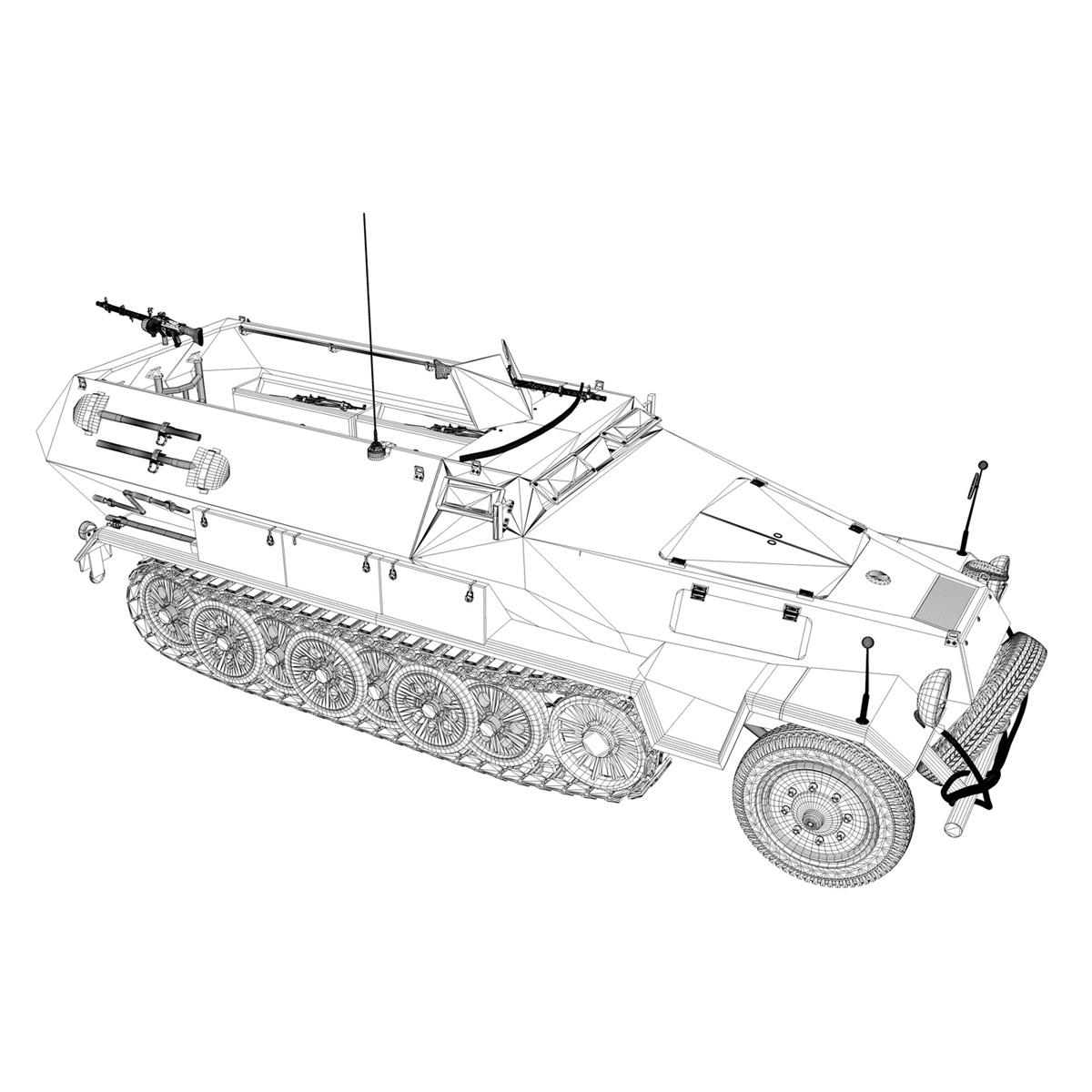 sd.kfz 251/1 ausf.b – halftruck – 7pd 3d model 3ds fbx c4d lwo obj 275088