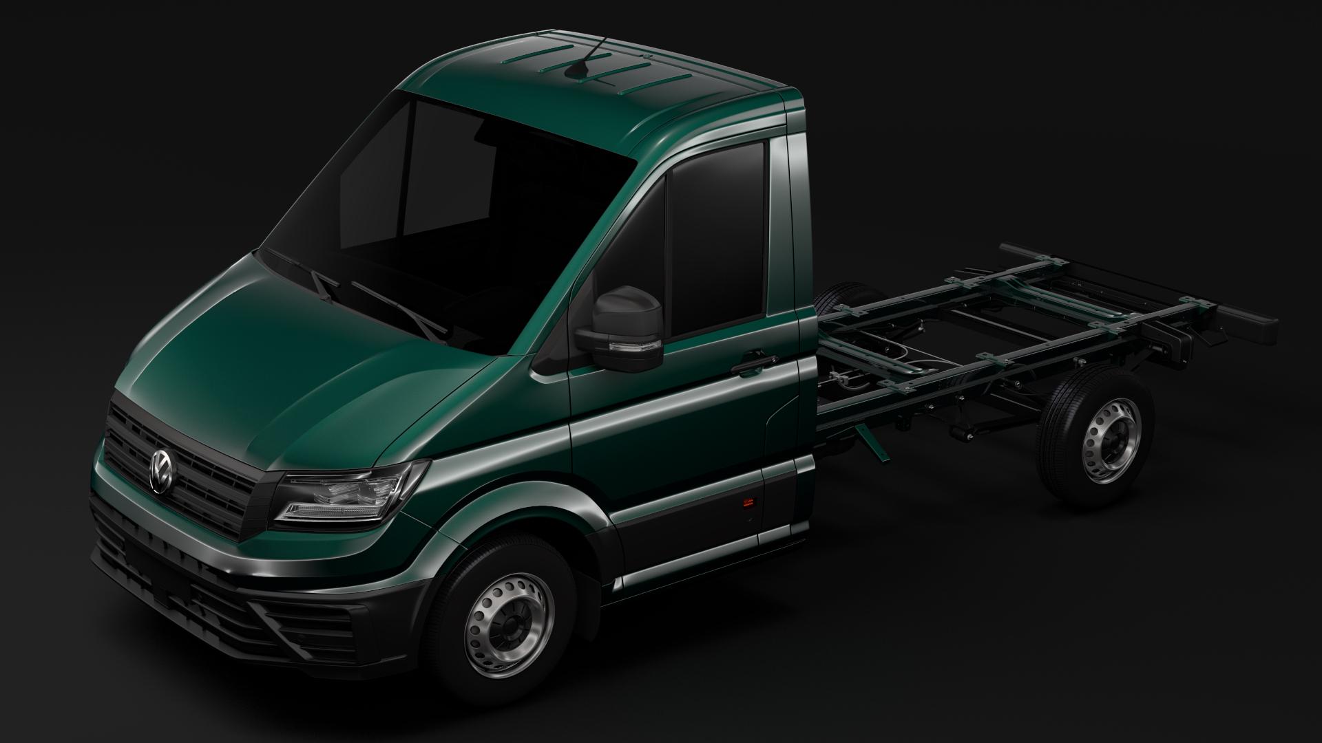 wv crafter chassis single-cab 2017 3d model max fbx c4d lwo ma mb hrc xsi obj 275093