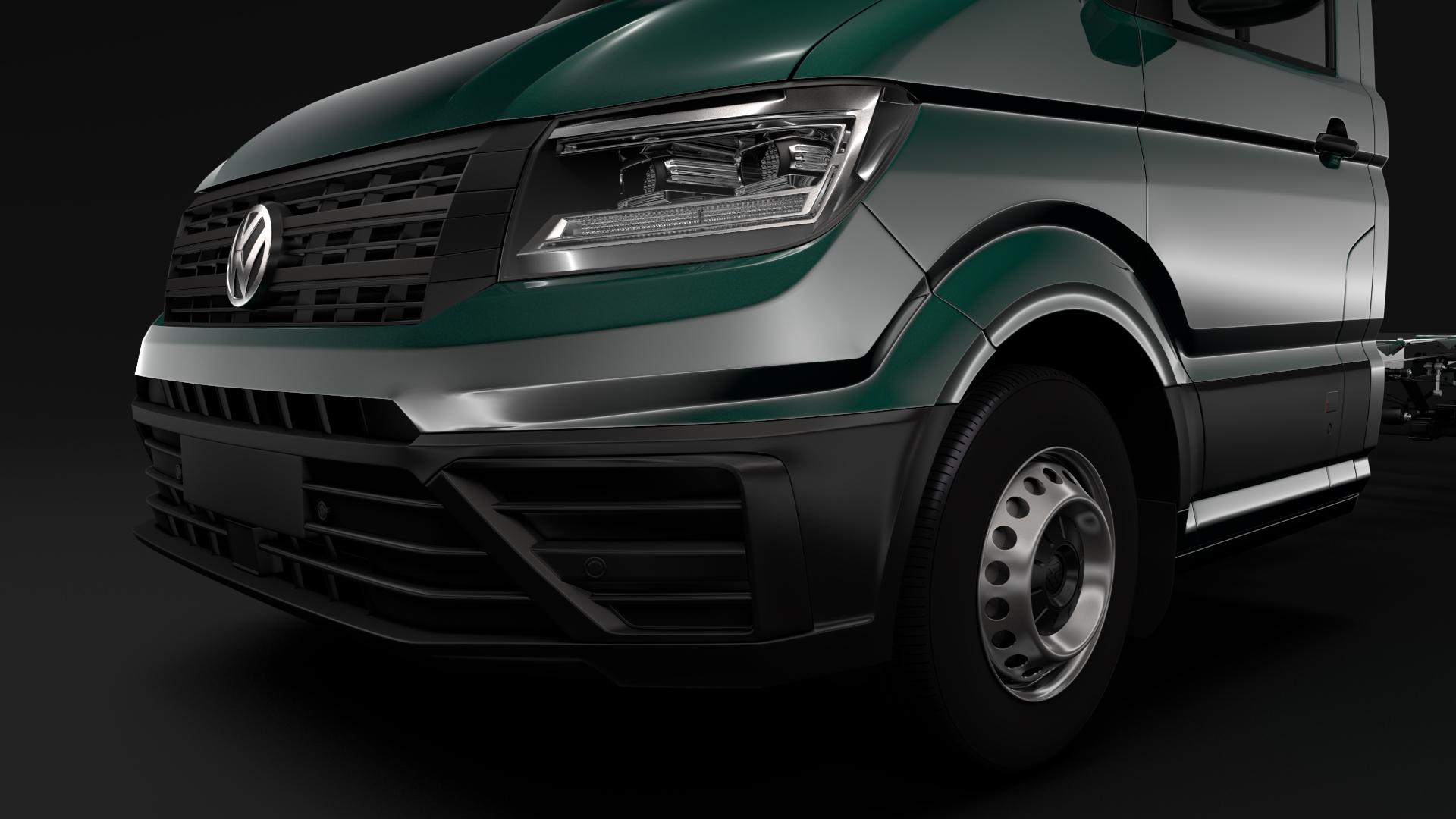 wv crafter chassis single-cab 2017 3d model max fbx c4d lwo ma mb hrc xsi obj 275095