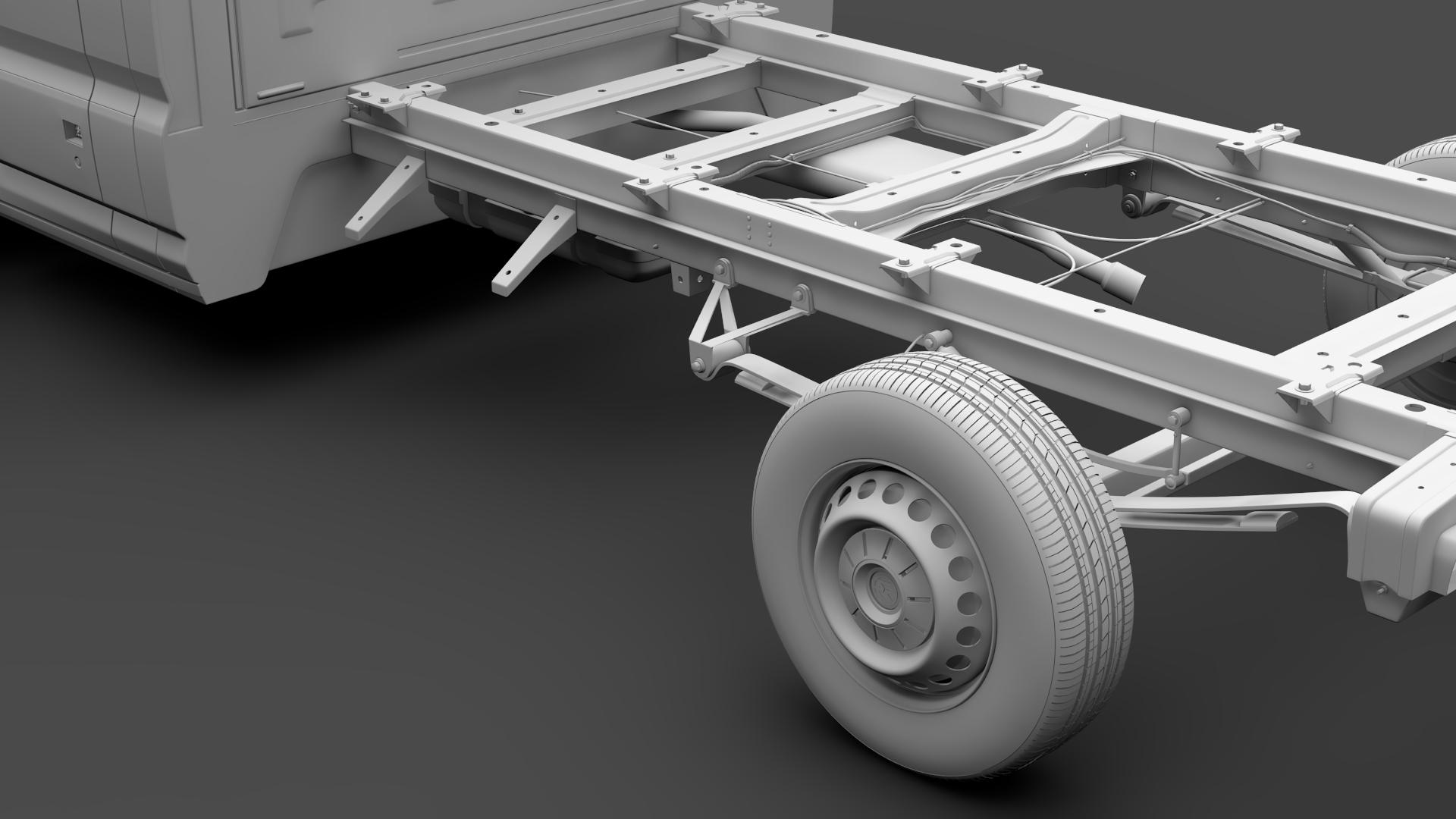 wv crafter chassis single-cab 2017 3d model max fbx c4d lwo ma mb hrc xsi obj 275103