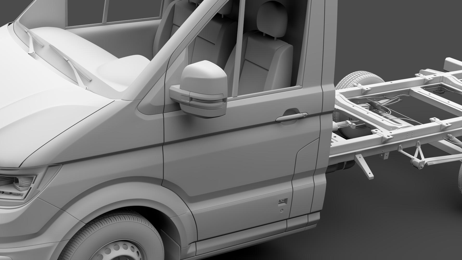 wv crafter chassis single-cab 2017 3d model max fbx c4d lwo ma mb hrc xsi obj 275104