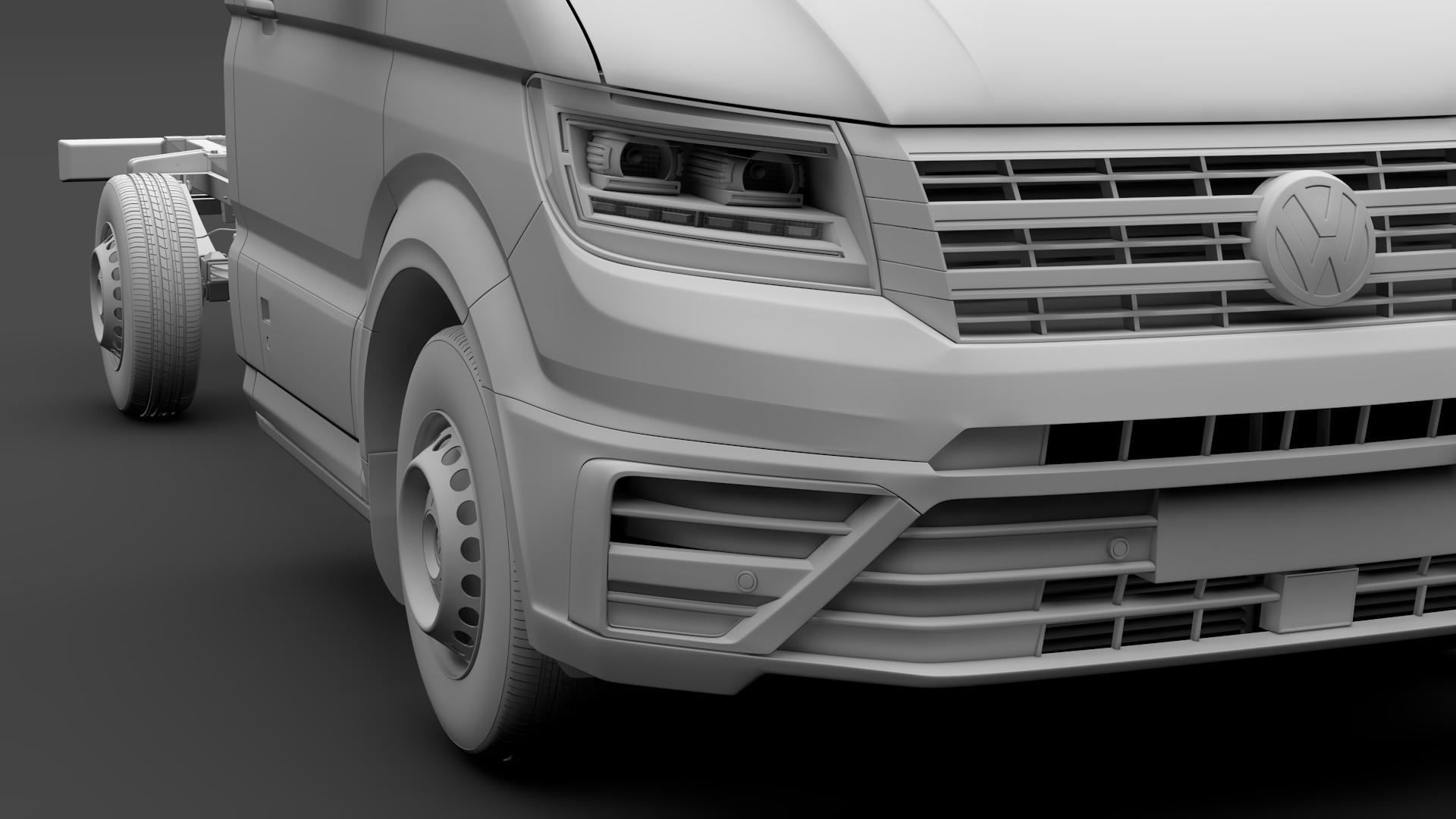wv crafter chassis single-cab 2017 3d model max fbx c4d lwo ma mb hrc xsi obj 275105