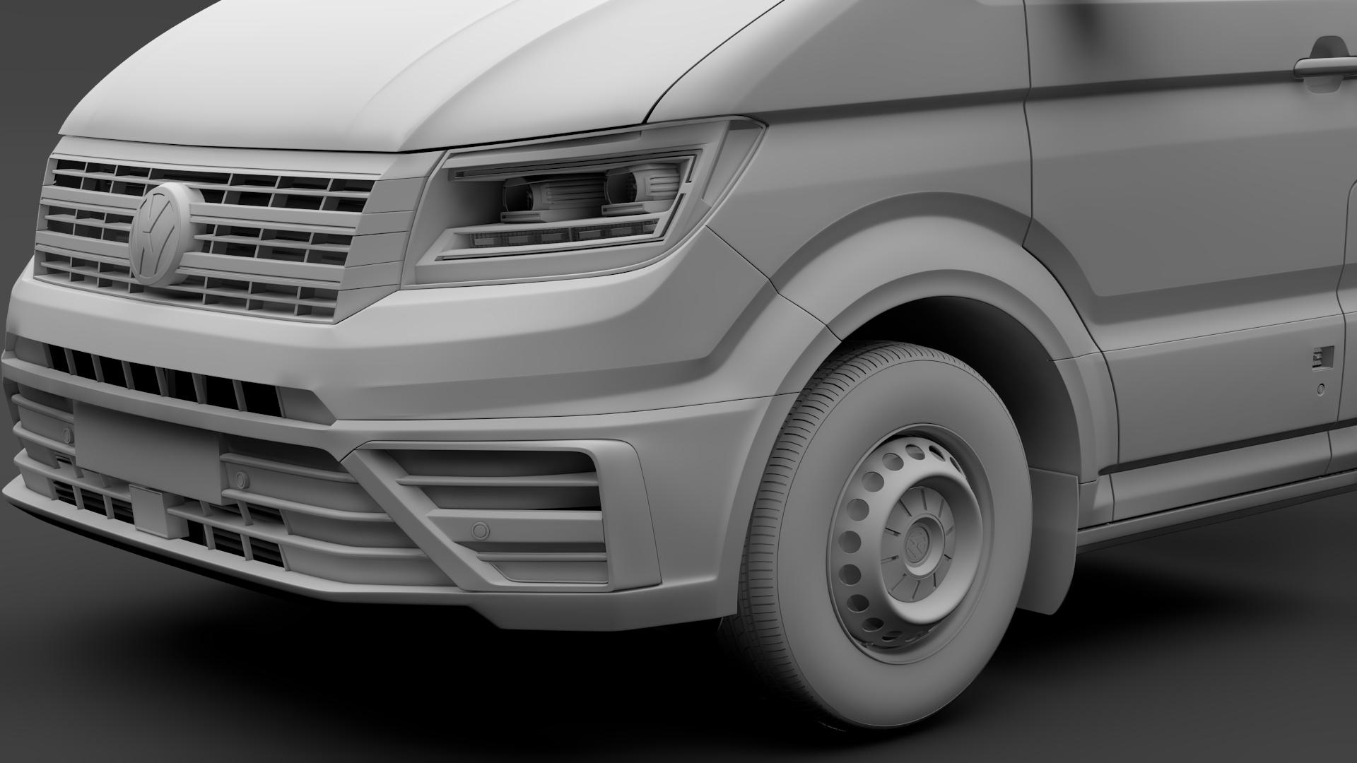 wv crafter chassis single-cab 2017 3d model max fbx c4d lwo ma mb hrc xsi obj 275106