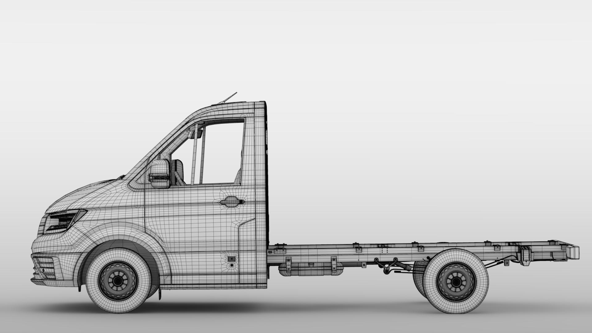 wv crafter chassis single-cab 2017 3d model max fbx c4d lwo ma mb hrc xsi obj 275107