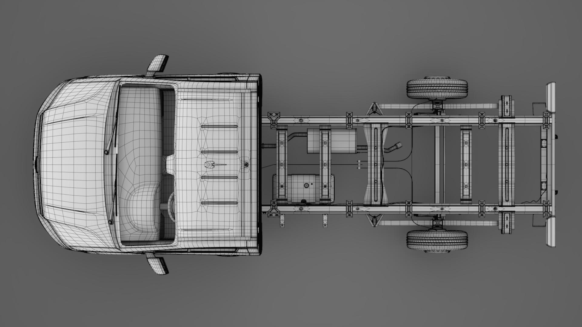 wv crafter chassis single-cab 2017 3d model max fbx c4d lwo ma mb hrc xsi obj 275108