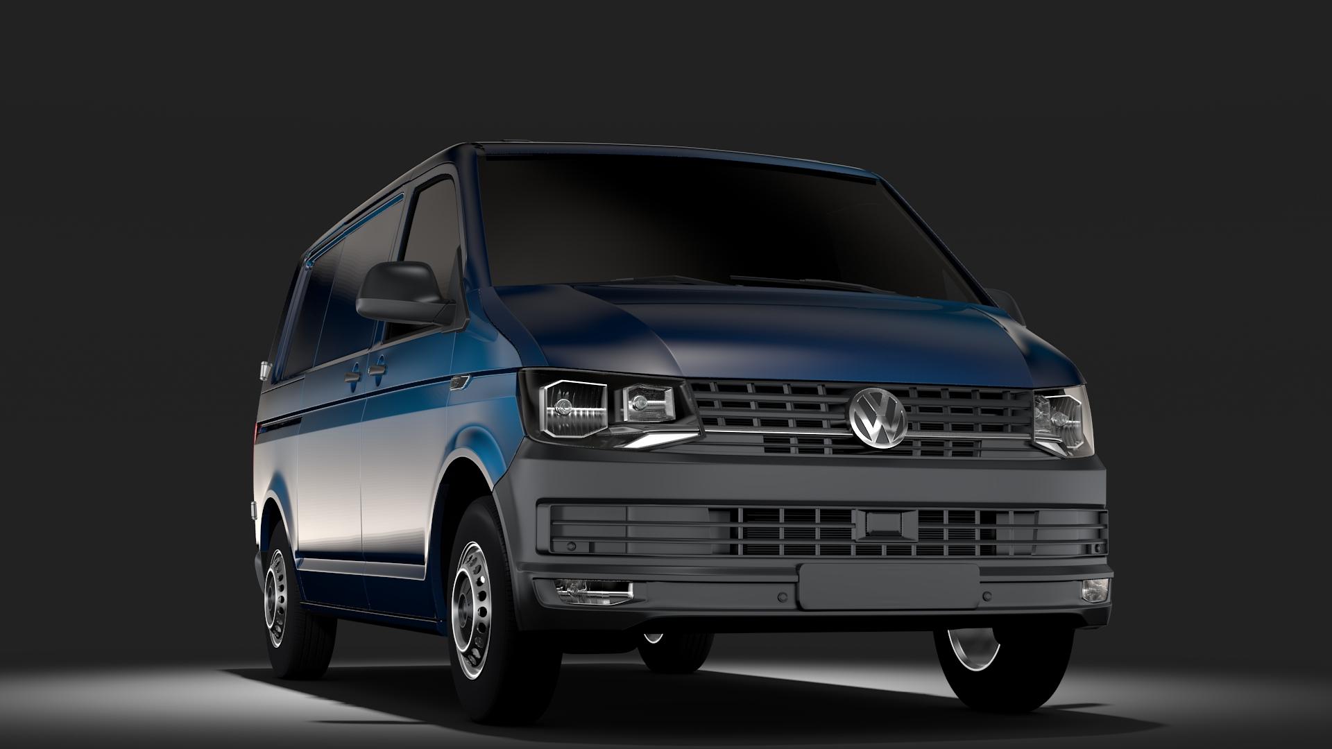 volkswagen transporter van l1h1 t6 2017 3d model fbx c4d lwo ma mb hrc xsi obj 275120
