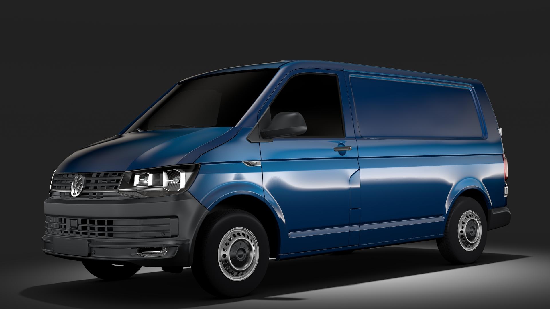 volkswagen transporter van l1h1 t6 2017 3d model fbx c4d lwo ma mb hrc xsi obj 275121