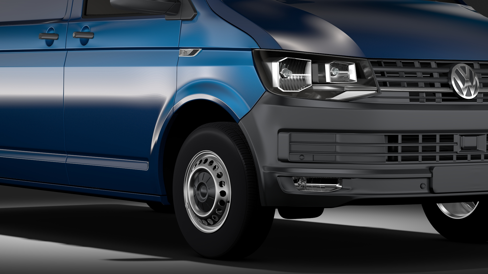 volkswagen transporter van l1h1 t6 2017 3d model fbx c4d lwo ma mb hrc xsi obj 275123