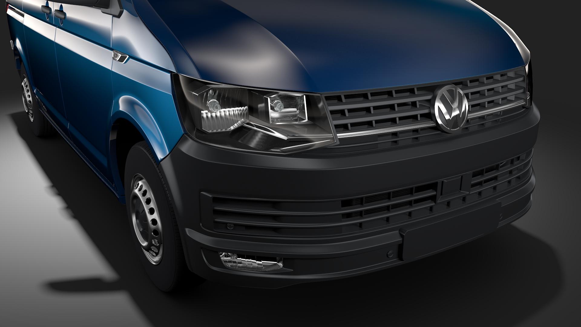 volkswagen transporter van l1h1 t6 2017 3d model fbx c4d lwo ma mb hrc xsi obj 275124