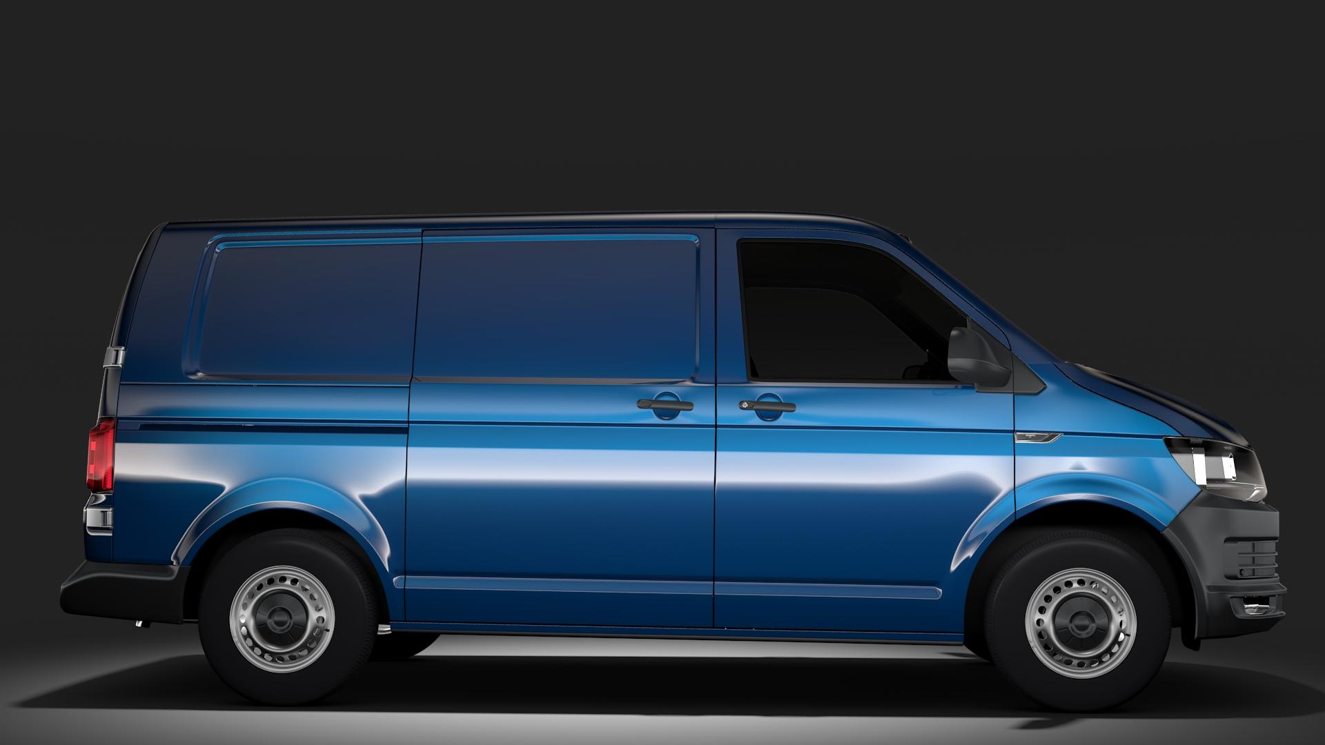volkswagen transporter van l1h1 t6 2017 3d model fbx c4d lwo ma mb hrc xsi obj 275128