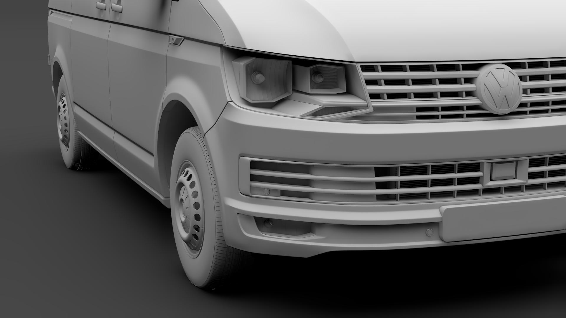 volkswagen transporter van l1h1 t6 2017 3d model fbx c4d lwo ma mb hrc xsi obj 275131