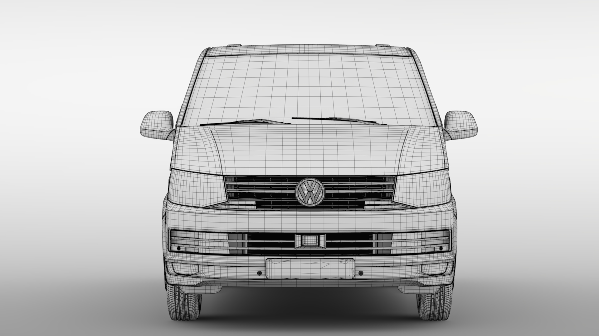 volkswagen transporter van l1h1 t6 2017 3d model fbx c4d lwo ma mb hrc xsi obj 275134