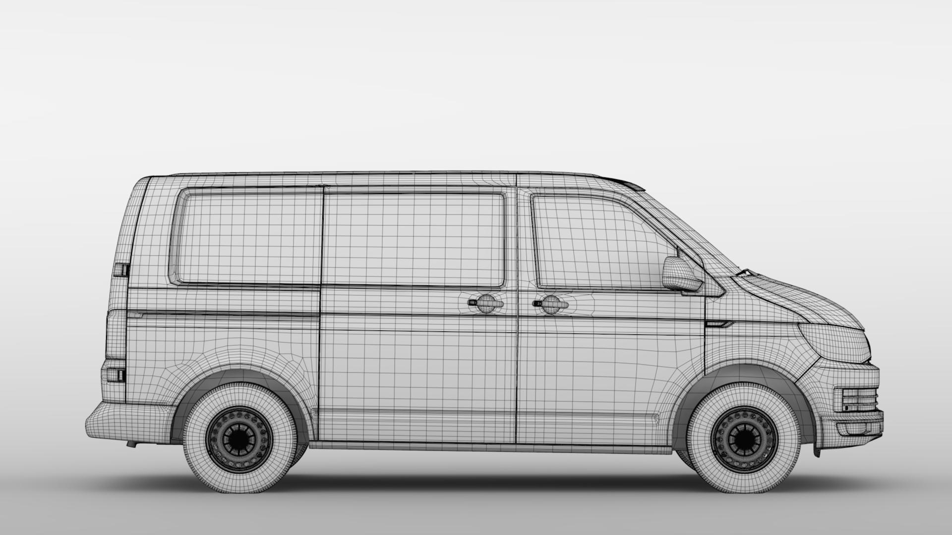volkswagen transporter van l1h1 t6 2017 3d model fbx c4d lwo ma mb hrc xsi obj 275135