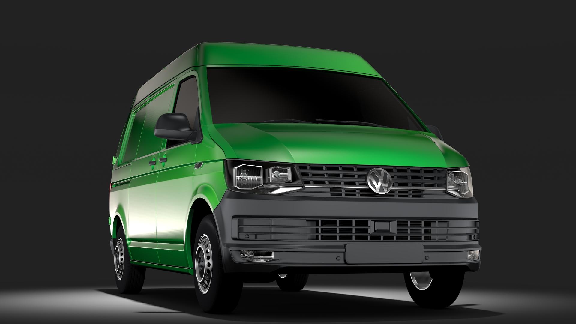 volkswagen transporter van l1h2 t6 2017 3d model max fbx c4d lwo ma mb hrc xsi obj 275146