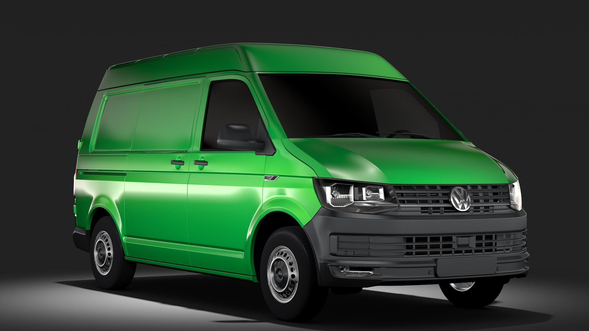 volkswagen transporter van l1h2 t6 2017 3d model max fbx c4d lwo ma mb hrc xsi obj 275148