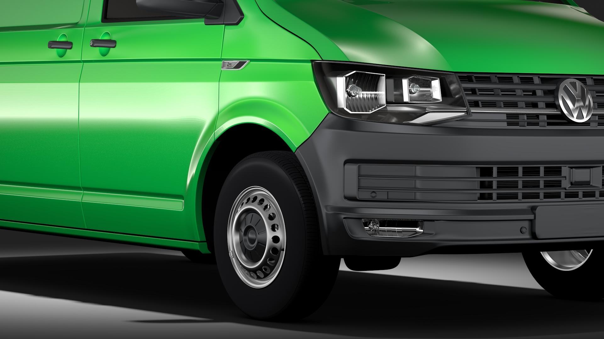 volkswagen transporter van l1h2 t6 2017 3d model max fbx c4d lwo ma mb hrc xsi obj 275149