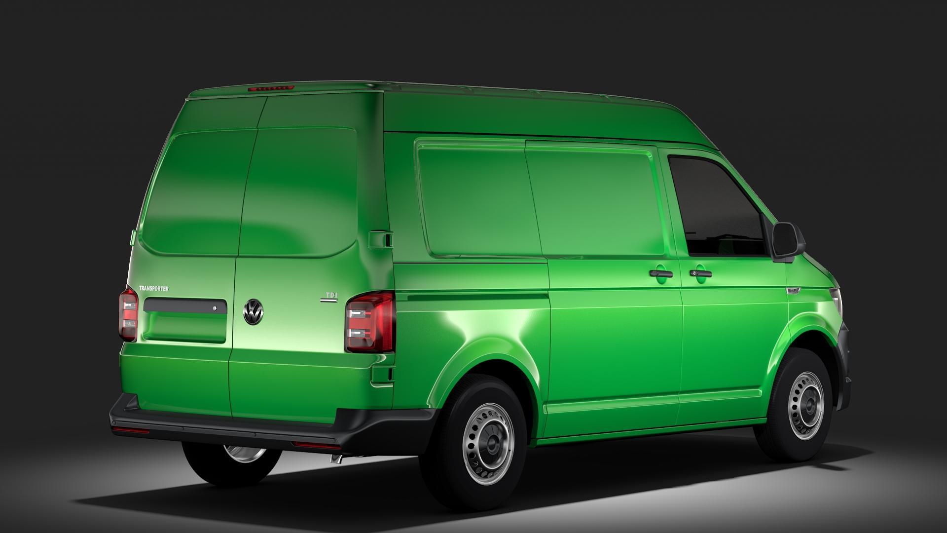 volkswagen transporter van l1h2 t6 2017 3d model max fbx c4d lwo ma mb hrc xsi obj 275152