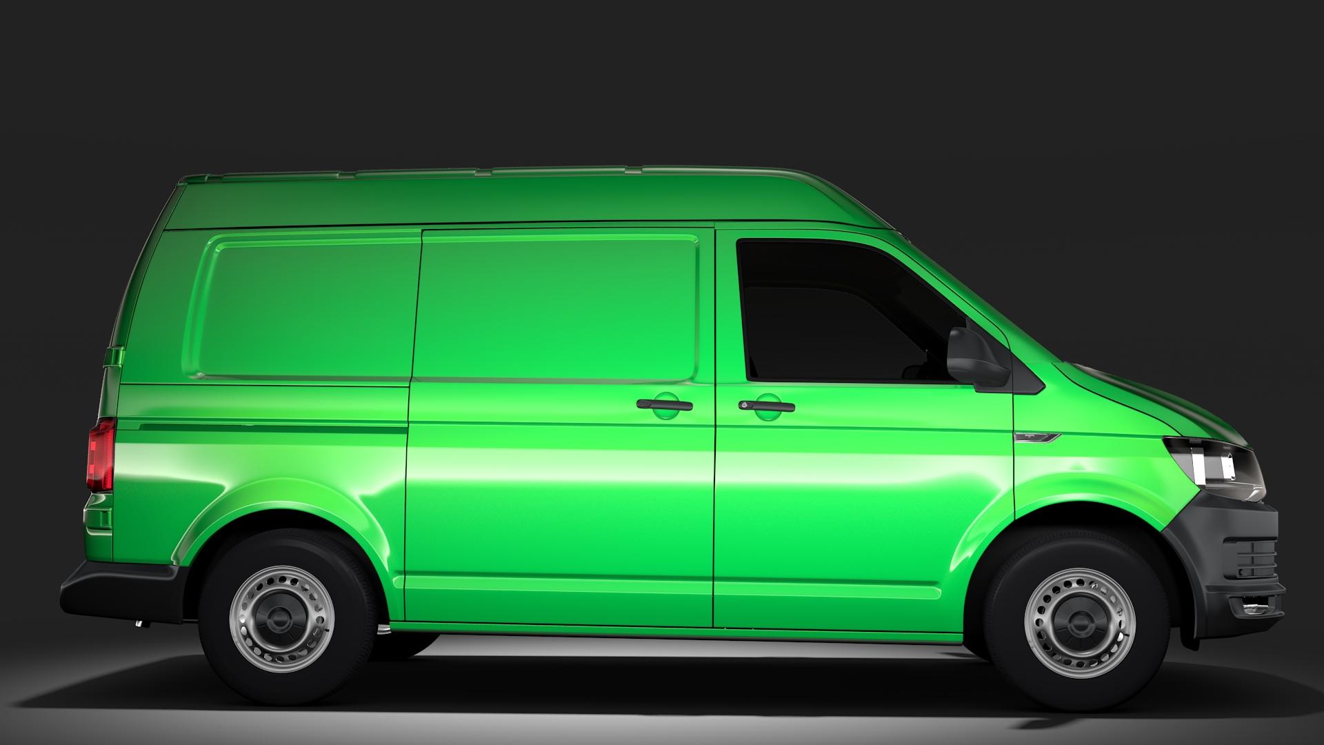 volkswagen transporter van l1h2 t6 2017 3d model max fbx c4d lwo ma mb hrc xsi obj 275154