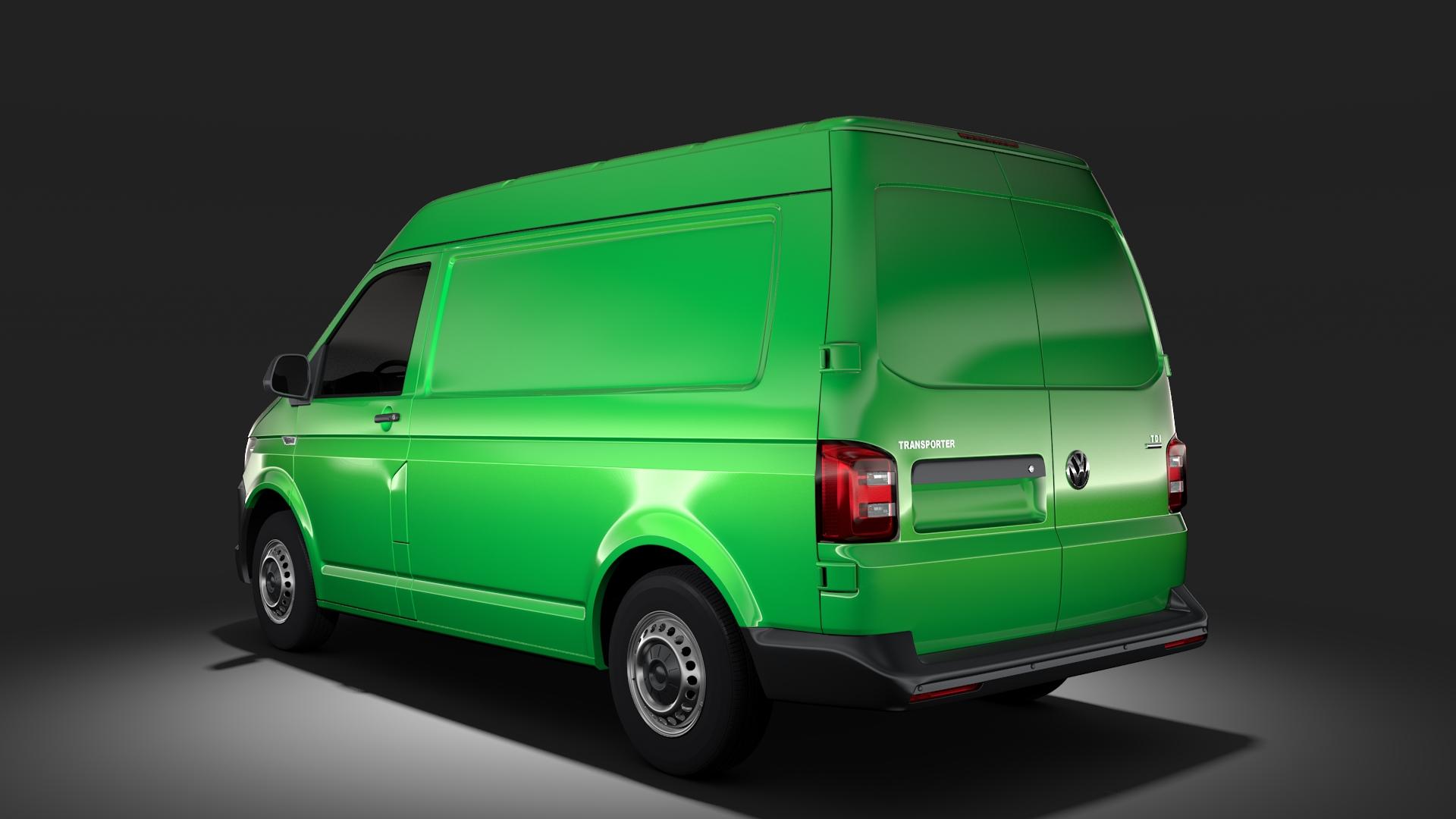 volkswagen transporter van l1h2 t6 2017 3d model max fbx c4d lwo ma mb hrc xsi obj 275155