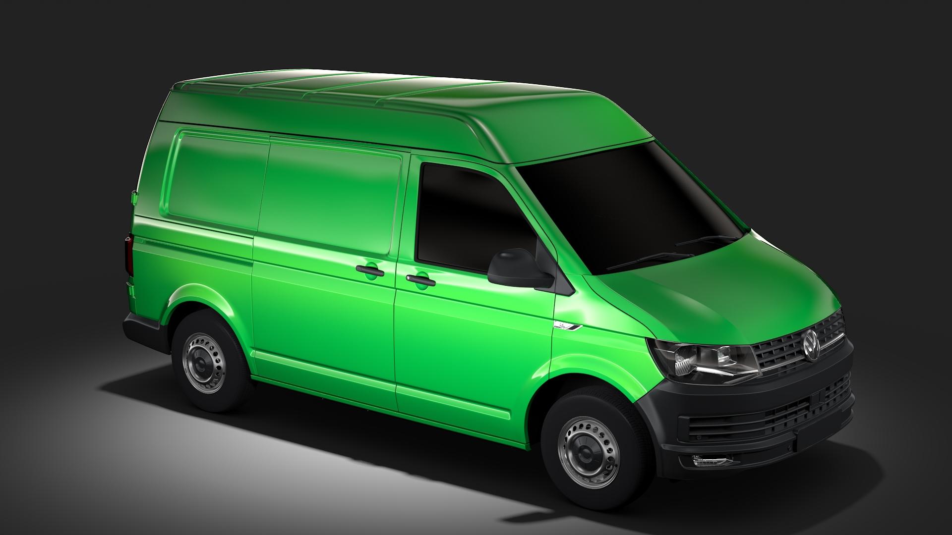 volkswagen transporter van l1h2 t6 2017 3d model max fbx c4d lwo ma mb hrc xsi obj 275156