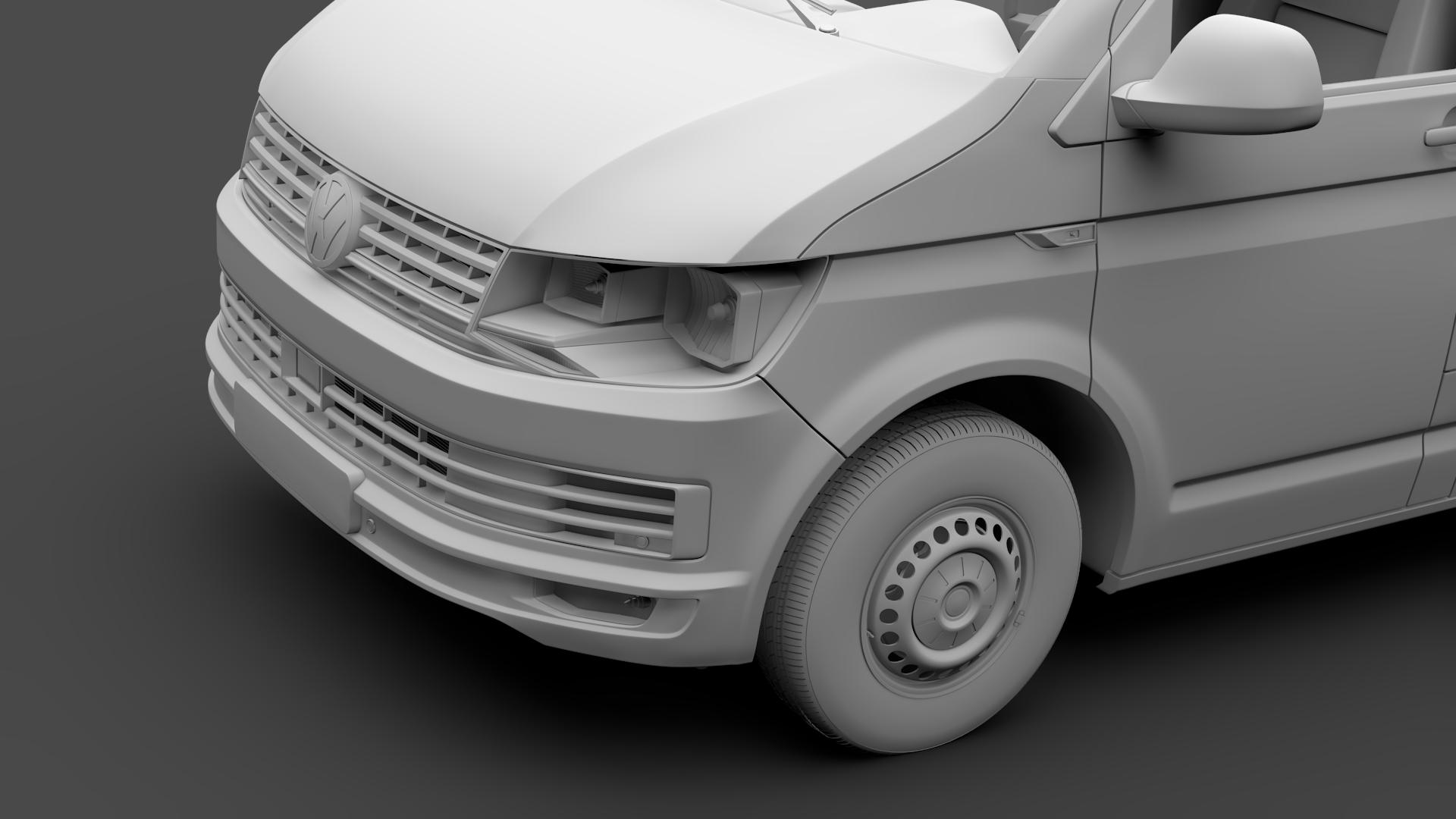 volkswagen transporter van l1h2 t6 2017 3d model max fbx c4d lwo ma mb hrc xsi obj 275157