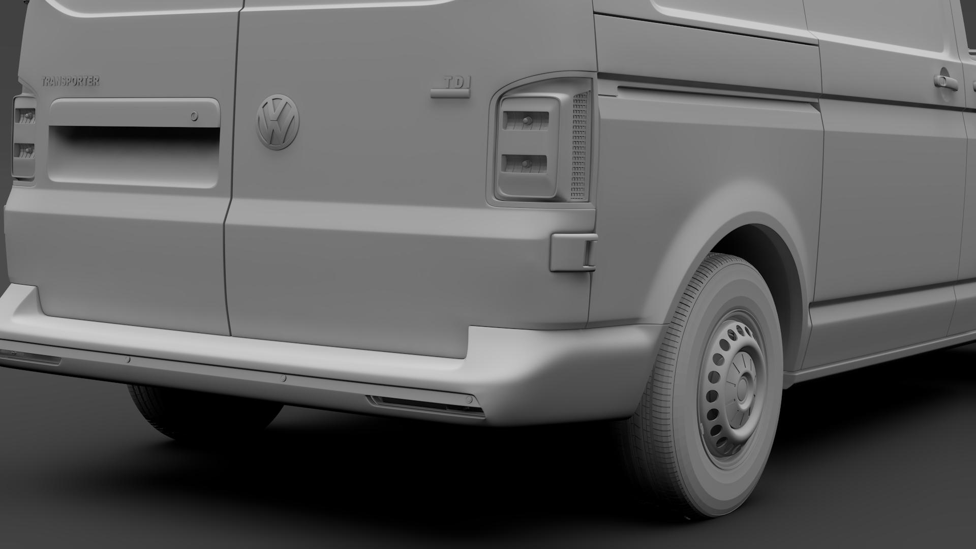 volkswagen transporter van l1h2 t6 2017 3d model max fbx c4d lwo ma mb hrc xsi obj 275158