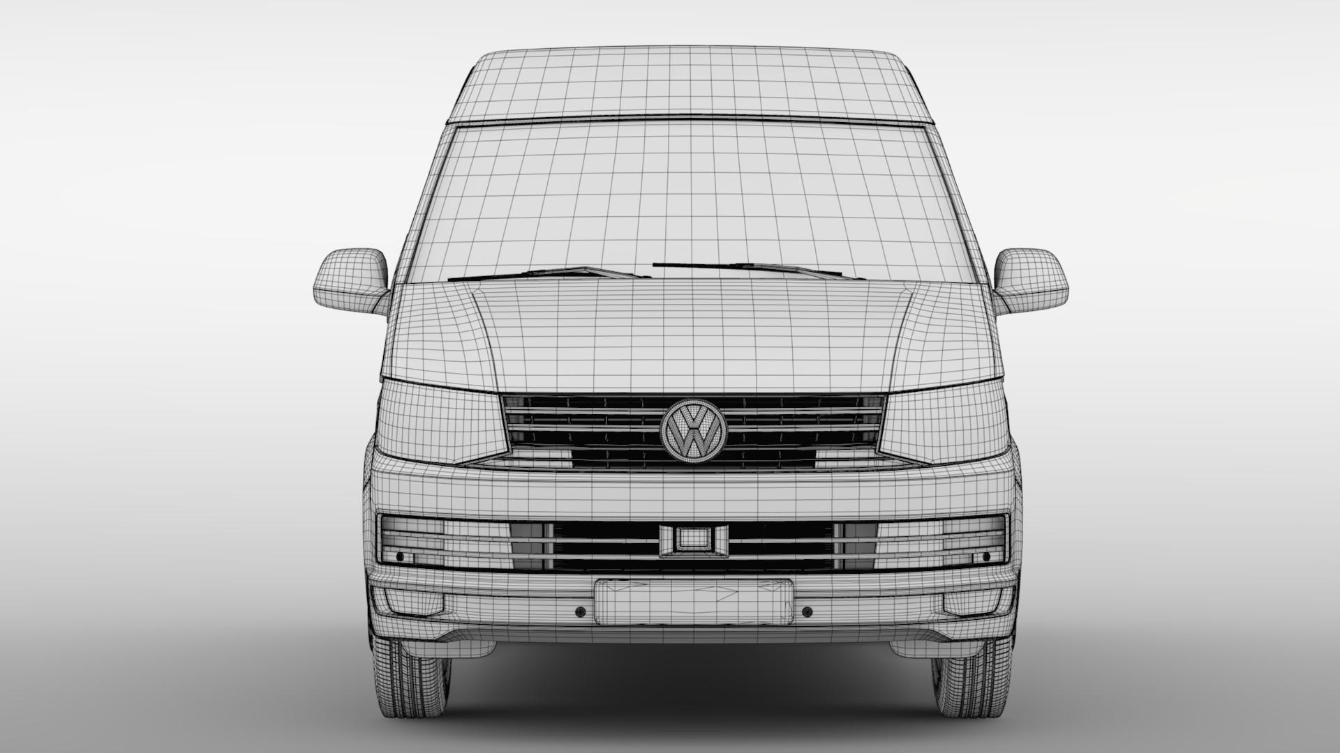 volkswagen transporter van l1h2 t6 2017 3d model max fbx c4d lwo ma mb hrc xsi obj 275159