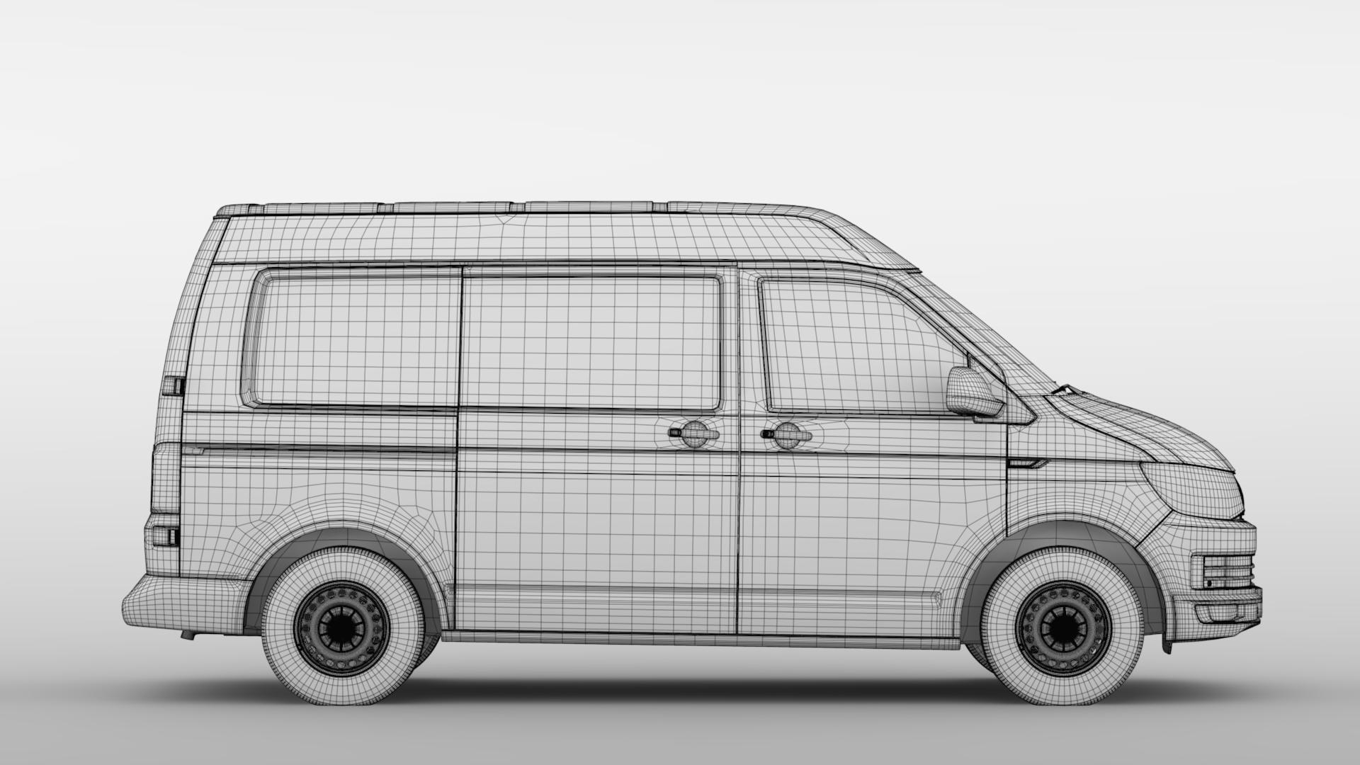 volkswagen transporter van l1h2 t6 2017 3d model max fbx c4d lwo ma mb hrc xsi obj 275160