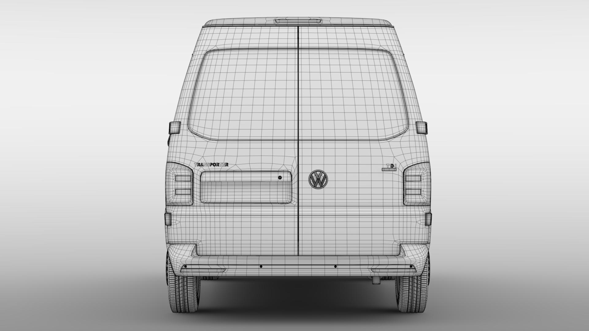 volkswagen transporter van l1h2 t6 2017 3d model max fbx c4d lwo ma mb hrc xsi obj 275161