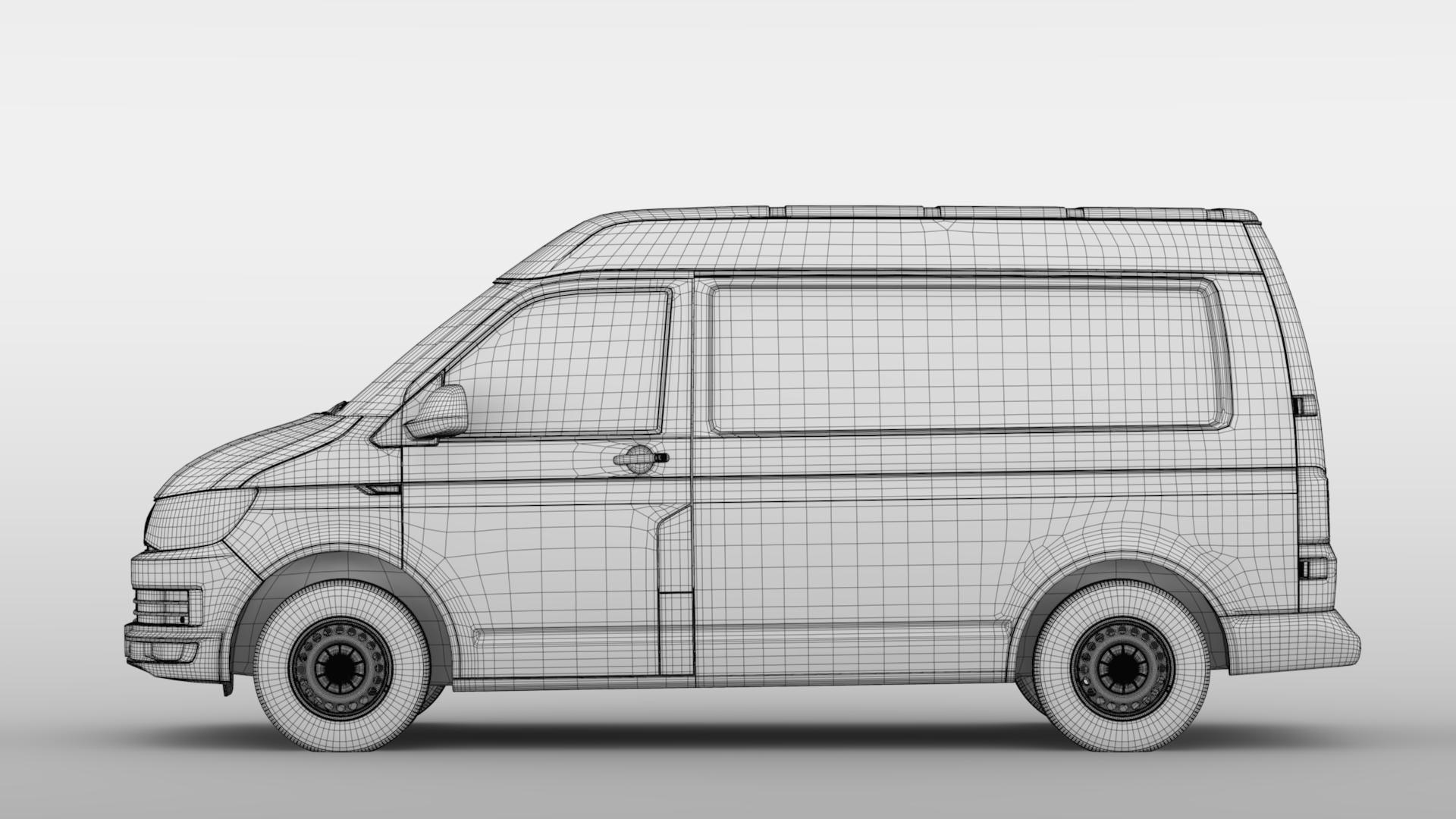 volkswagen transporter van l1h2 t6 2017 3d model max fbx c4d lwo ma mb hrc xsi obj 275162