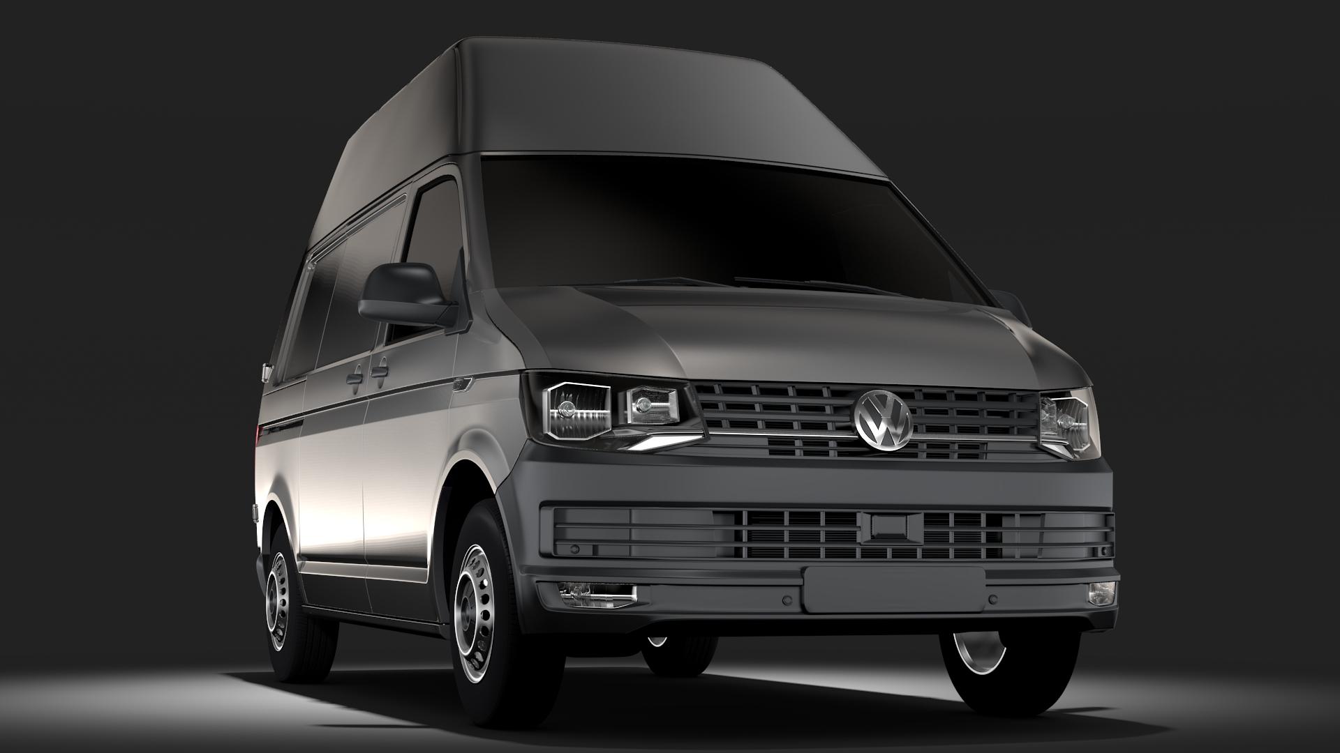 volkswagen transporter van l1h3 t6 2017 3d model max fbx c4d lwo ma mb hrc xsi obj 275175